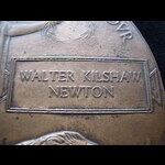 UNIQUE MEMORIAL PLAQUE to 2nd LIEUT WALTER KILSHAW NEWTON, 10th WEST YORKSHIRE REGT from Bradford...