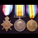 1914 TRIO to L-11745 PTE Alfred CRAFT 1st MIDDLESEX REGT. Qualified as a Maxim Gunner in 1913. To...