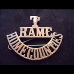 Original 'T/RAMC/HOME COUNTIES' Territorial Force Brass Shoulder Title, as worn during WW1