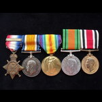 1914 TRIO with Clasp, DEFENCE MEDAL and GviR SPECIAL CONSTABULARY LONG SERVICE MEDAL to 2nd LIEUT...