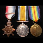 1914 TRIO & Copy 'AUG-NOV 1914' Bar to 8197 PTE John FORREST 1st NORTHUMBERLAND FUSILIERS. A Newc...