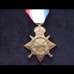 1914/15 STAR to 48794 BMBR Frederick Stephen GALE R.F.A. To France 18/1/15 then Salonika, where h...