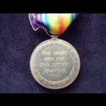 VICTORY MEDAL to 2nd LIEUT Wi.   Great War Medals