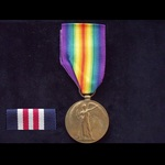 VICTORY MEDAL to 11791 SPR John M. THOMPSON R.E. from South Ealing. Served with 18th Signal Compa...