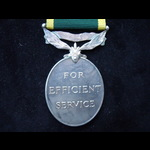 GviR EFFICIENCY MEDAL Bar 'TERRITORIAL'  to SIGNALMAN  BEAUMONT,  ROYAL SIGNALS