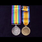 BWM & VICTORY MEDAL to 24465 PTE Alfred WILSON R.BERKS.R. To France 24/7/16 with 11th (Labour) Ba...