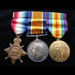 1914 TRIO to MS-4477 PTE Samuel Alfred PORTER A.S.C. To France 28/9/14 with 2nd Indian Ammunition...