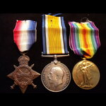 1914/15 TRIO to PTE Lawrence Francis CLANCY, 1/1st NORTHUMBERLAND HUSSARS YEOMANRY, later 2nd LIE...