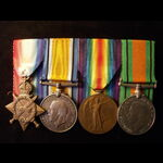 1914/15 TRIO & DEFENCE MEDAL to 2nd LIEUT / CAPTAIN Kirby Frederick WARNER, NORTHAMPTONSHIRE REGT...