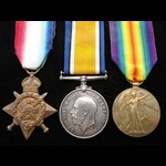 1914 TRIO to 5829 PTE Thomas ROBINSON 2nd MANCHESTER REGT. Born Ardwick 1881. To France 15/8/14 &...