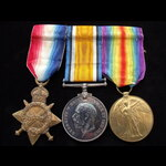 1914/15 TRIO to 2nd LIEUT William Thomas LONGLEY To France 16/1/15 as Corporal, A.S.C. Commission...