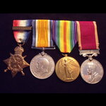 1914 TRIO with Side-on 'AUG-NOV 1914' CLASP & GvR 'REGULAR ARMY' LS&GC MEDAL to T-28738 DVR / T.C...