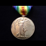 VICTORY MEDAL to 59428 PTE John James SHRIMPTON 23rd LONDON REGT.  Served in France from 20/1/17 ...