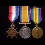 1914 TRIO to 10363 PTE Robert CORNISH 2nd ROYAL SCOTS FUSILIERS. Served in France from 6/10/14 un...