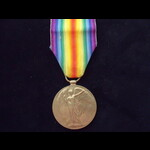 VICTORY MEDAL to J-88722 Alfred BATESON ORD R.N. from Wigan  who served on the 'Q-Ship' LYCHNIS f...