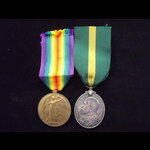 EviiR TFEM & VICTORY MEDAL to 506 L.CPL Robert McCOLL 9th Dumbartonshire Battalion, Argyll & Suth...