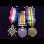 1914 TRIO to 9287 PTE William DODDS 2nd ROYAL INNISKILLING FUSILIERS. To France 23/8/14. Later tr...