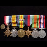 1914/15 TRIO with MID Emblem, 1939/45 STAR, DEFENCE & WAR MEDAL plus WW2 MEDALLION to 2.LIEUT / M...