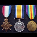 1914 TRIO to 2543 PTE John Os. | Great War Medals