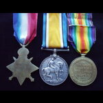 1914/15 TRIO to 59655 PTE Edward CHAMBERLAIN R.A.M.C. who served on the Western Front with the Ro...