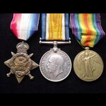 1914 TRIO to L-12308 PTE Alfred PARKER 2nd MIDDLESEX REGT. From Finchley, North London. To France...