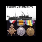 1914 TRIO to 19629 PTE / CPL Henry William COX R.A.M.C. who went to France 15/8/14 with 10th Stat...