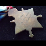 1914/15 STAR & BRITISH WAR MEDAL to 13654 PTE Samuel LAWLEY S.STAFF.R. To France 24/8/15 & served...