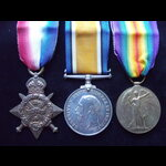 1914 TRIO to 5840 PTE George LAMPORT  COLDSTREAM GUARDS To France 13/8/14 with the Guards Divisio...