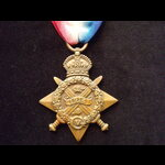 1914 STAR to S-6284 PTE James POOLEY 1/EAST SURREY REGT. To France 26/10/14. Admitted to 14th Fie...