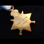 1914 STAR to 1202 L.CPL Edward McKIDDIE 1st KING'S ROYAL RIFLE CORPS. To France 9/11/14. Reported...