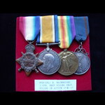 1914/15 TRIO & named SILVER 'A.T.A.' MEDAL to 1727 PTE / CPL Harold WAINWRIGHT 1/4th WEST RIDING ...