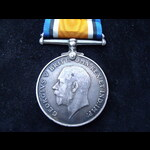 BRITISH WAR MEDAL to Edward de MASSEY A.B.  RN - Served on HMS Diamond & HMS Victor during WW1