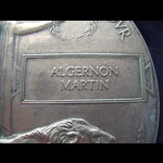 UNIQUE MEMORIAL PLAQUE to 2nd LIEUT Algernon MARTIN 70th Brigade R.F.A., 15th Scottish Division. ...
