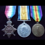 1914/15 TRIO to 18867 PTE Edward Harry EADES  8th ROYAL BERKSHIRE REGT - To France 16/12/15 & lat...
