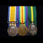 BWM, VICTORY MEDAL & EviiR TFEM to SJT MARCHANT 4th SUFFOLK REGT