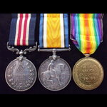 GvR MM, BWM & VICTORY MEDAL to 928772 PTE William Cecil THOMPSON 8th MANITOBA REGT & 18th CAN.INF...