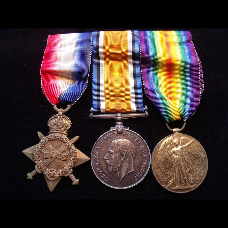 1914/15 TRIO to 199 DVR / 2nd. | Great War Medals