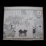 'THE CIVIL SERVICE WINS THE WAR FOR US' - ORIGINAL WW2 HOME FRONT NEWSPAPER CARTOON  by 'Low' pub...