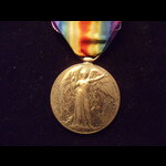 VICTORY MEDAL to 4571 PTE Arthur Ernest LOVEDAY 2/13th LONDON REGT. Served in France from 22/6/16...