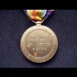 VICTORY MEDAL to 55063 PTE Leonard SMITH 15th LANCASHIRE FUSILIERS.  Served on the Western Front ...