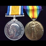 BWM & VICTORY MEDAL to GS-21537 PTE George SANDERSON 2nd DRAGOON GUARDS (Queen's Bays) from Oldha...