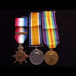 1914 TRIO to 942 PTE / SJT John SPRUNT 1st ROYAL HIGHLANDERS To France 13/8/14 with 1st Black Wat...