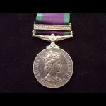 EiiR CSM Bar 'NORTHERN IRELAND' to 24309673 PTE G.S.WILLARD R.ANGLIAN who served in 'Operation Ba...