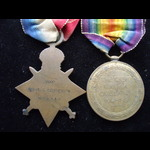 1914/15 STAR & VICTORY MEDAL . | Great War Medals