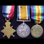 1914 TRIO to 9287 PTE William. | Great War Medals
