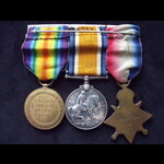 1914 TRIO to 18547 DVR / SPR . | Great War Medals
