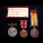 BRITISH WAR MEDAL & 2 London County Council SCHOOL MEDALS to J-89575 George James ELLIS BOY.2 R.N...