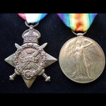 1914 STAR & VICTORY MEDAL to . | Great War Medals