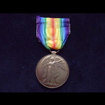 VICTORY MEDAL to 14254 PTE Fred COOPER 11th ESSEX REGT. Born Ridgwell, Essex. Wounded in the Ypre...