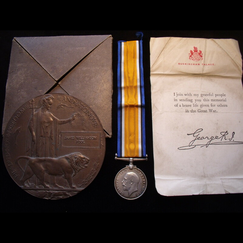 BWM & MEMORIAL PLAQUE to 2nd . | Great War Medals